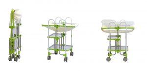 新生児ベッド コット式 折りたたみ式  Ababy-T2G トクヤマ